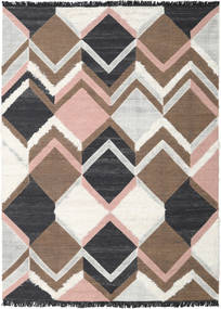 Silvana - Soft Pink Rug 250X350 Authentic  Modern Handwoven Brown/Dark Grey/Beige Large (Wool, India)