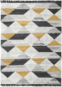 Isha - Gold Rug 250X350 Authentic  Modern Handwoven Light Grey/Dark Grey Large (Wool, India)