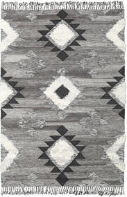 Inka - Black/White Rug 200X300 Authentic  Modern Handwoven Light Grey/Dark Grey (Wool, India)