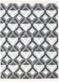 Aino Rug 140X200 Authentic  Modern Handwoven Dark Grey/Beige (Wool/Bamboo Silk, India)
