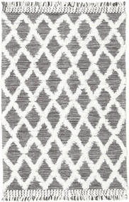 Inez - Dark Brown/White Rug 140X200 Authentic  Modern Handwoven Beige/Dark Grey (Wool, India)
