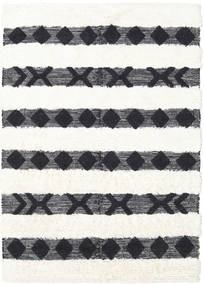 Shaula - Black/White Rug 140X200 Authentic  Modern Handwoven Dark Grey/Beige/White/Creme (Wool, India)