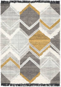 Silvana - Gold Rug 140X200 Authentic  Modern Handwoven Light Grey/Dark Beige (Wool, India)
