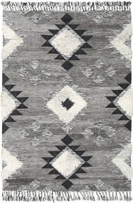 Inka - Black/White Rug 160X230 Authentic  Modern Handwoven Light Grey/Dark Grey (Wool, India)