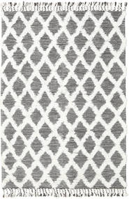 Inez - Dark Brown/White Rug 160X230 Authentic  Modern Handwoven Beige/Light Grey (Wool, India)