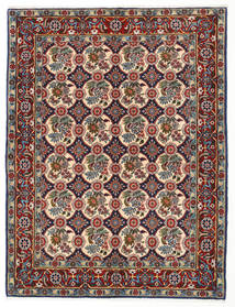 Varamin Rug 150X196 Authentic  Oriental Handknotted Dark Brown/Brown (Wool, Persia/Iran)