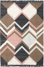 Silvana - Soft Pink Rug 200X300 Authentic  Modern Handwoven Beige/Dark Grey (Wool, India)