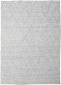 Svea - Silver Grey Rug 250X350 Authentic  Modern Handwoven Light Grey/White/Creme Large (Wool, India)