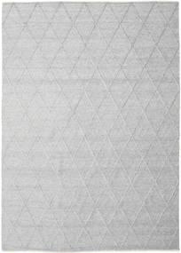 Svea - Silbergrau Teppich  250X350 Echter Moderner Handgewebter Hellgrau Großer (Wolle, Indien)