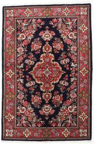 Sarough Teppe 144X218 Ekte Orientalsk Håndknyttet Mørk Lilla/Brun (Ull, Persia/Iran)