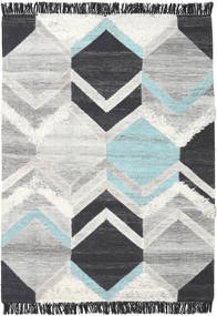Silvana - Teal Rug 160X230 Authentic  Modern Handwoven Light Grey/Beige/Dark Blue (Wool, India)