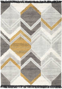 Silvana - Gold Rug 160X230 Authentic  Modern Handwoven Beige/Light Grey (Wool, India)