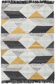 Isha - Gold Rug 140X200 Authentic  Modern Handwoven Light Grey/Dark Grey (Wool, India)