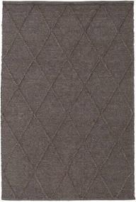 Svea - Dark Brown Rug 140X200 Authentic  Modern Handwoven Dark Blue/Dark Grey/Dark Brown/Light Grey (Wool, India)