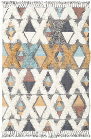 Xavier - Multi Rug 160X230 Authentic  Modern Handwoven Beige/Light Grey (Wool, India)