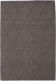 Svea - Dark Brown Rug 160X230 Authentic  Modern Handwoven Dark Grey/Dark Brown (Wool, India)