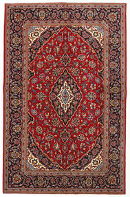 カシャン 絨毯 143X220 オリエンタル 手織り 深紅色の/茶 (ウール, ペルシャ/イラン)