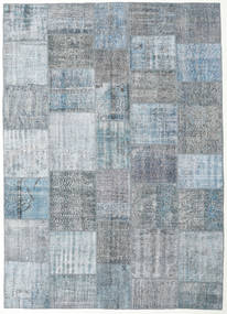 Patchwork Rug 248X348 Authentic  Modern Handknotted Light Blue/Light Grey (Wool, Turkey)