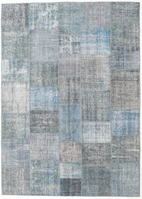 Patchwork Rug 250X352 Authentic  Modern Handknotted Light Grey/Light Blue Large (Wool, Turkey)