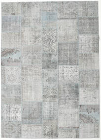 Patchwork Rug 248X350 Authentic  Modern Handknotted Light Grey (Wool, Turkey)