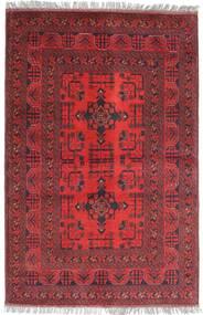 Afghan Khal Mohammadi Matto 102X149 Itämainen Käsinsolmittu Tummanpunainen/Ruskea (Villa, Afganistan)