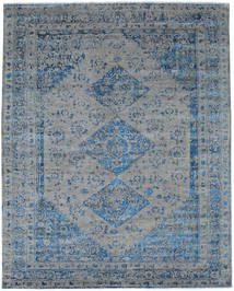 Damask Indo Rug 245X303 Authentic  Modern Handknotted Dark Grey/Light Grey ( India)