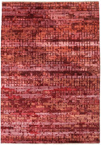 Damask Indo Rug 173X245 Authentic  Modern Handknotted Dark Red/Rust Red ( India)