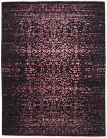 Damask Indo Rug 237X308 Authentic  Modern Handknotted Dark Red/Light Pink ( India)