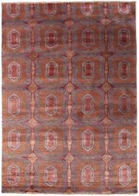 Damask Indo Tapis 170X241 Moderne Fait Main Rouge Foncé/Marron Clair ( Inde)