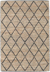 Serena Jute - Natural/Black Rug 160X230 Authentic  Modern Handwoven Light Brown/Beige ( India)