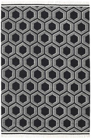 Opti - Black/White Rug 200X300 Authentic  Modern Handwoven Black/Dark Grey/Light Grey (Wool, India)