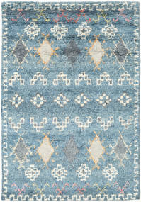 Zaurac - Blue Grey Rug 140X200 Authentic  Modern Handknotted Light Blue/Beige (Wool, India)