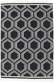Opti - Black/White Rug 140X200 Authentic  Modern Handwoven Black/Beige (Wool, India)