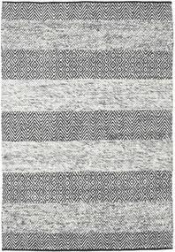 Folke - Grå Teppe 140X200 Ekte Moderne Håndvevd Lys Grå/Mørk Grå (Ull, India)