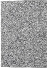Rut - 진한 회색 Melange 러그 140X200 정품  모던 수제 라이트 그레이/라이트 블루 (울, 인도)