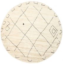 Almaaz - White Rug Ø 250 Authentic  Modern Handknotted Round Beige/White/Creme Large (Wool, India)