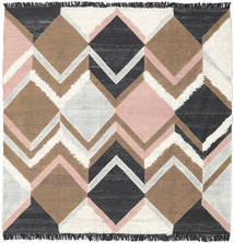 Silvana - Soft Pink Rug 250X250 Authentic Modern Handwoven Square Brown/Dark Grey Large (Wool, India)