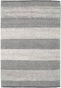 Folke - 茶 絨毯 140X200 モダン 手織り 薄い灰色/黒 (ウール, インド)