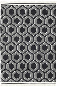 Opti - Black/White Rug 170X240 Authentic  Modern Handwoven Black/Light Grey (Wool, India)