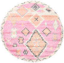 Odda - Pink Rug Ø 200 Authentic  Modern Handknotted Round Light Pink/Beige (Wool, India)