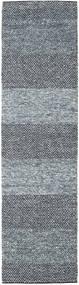 Folke - Denim Blue Rug 80X300 Authentic  Modern Handwoven Hallway Runner  Light Grey/Dark Grey (Wool, India)