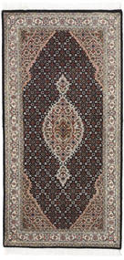 Tabriz Royal Covor 70X141 Orientale Lucrat Manual Maro Deschis/Maro Închis ( India
