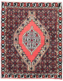 Senneh Rug 78X95 Authentic  Oriental Handknotted Black/Dark Red (Wool, Persia/Iran)