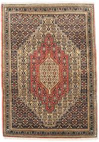 Senneh Koberec 76X108 Orientální Ručně Tkaný Světle Hnědá/Tmavošedý (Vlna, Persie/Írán)