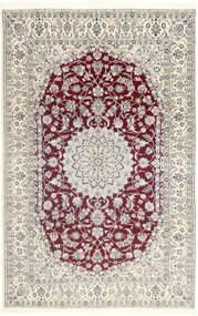Nain 9La Matto 202X320 Itämainen Käsinsolmittu Vaaleanharmaa/Beige (Villa/Silkki, Persia/Iran)