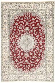 Nain 9La Matto 202X300 Itämainen Käsinsolmittu Beige/Vaaleanharmaa (Villa/Silkki, Persia/Iran)