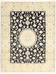 Nain 9La Matto 196X250 Itämainen Käsinsolmittu Beige/Tummanruskea (Villa/Silkki, Persia/Iran)