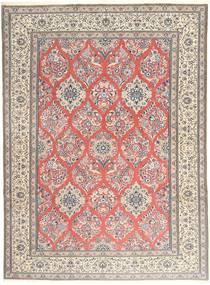 ナイン 9La 絨毯 248X333 オリエンタル 手織り ライトピンク/薄茶色 (ウール/絹, ペルシャ/イラン)