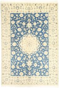 Nain 9La Rug 166X247 Authentic  Oriental Handknotted Beige/Blue (Wool/Silk, Persia/Iran)