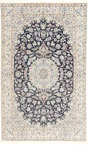 Nain 9La Rug 152X253 Authentic  Oriental Handknotted Light Grey/Beige/Dark Grey (Wool/Silk, Persia/Iran)
